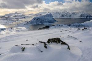 Lofoty v zimě (Norsko) - nádherná krajina